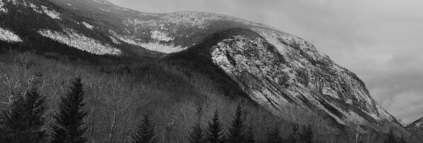 Inspired by a Brad Washburn Photography exibit I saw at Franconia Notch, I decided to shoot Canno Cliff as a black and white photo.